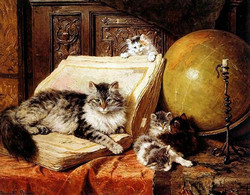 картины с кошками